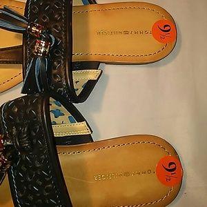Tommy Hilfiger Shoes - NWOT TOMMY HILFIGER BLUE TASSLE SANDALS-SIZE 9.5
